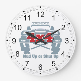 Mud Up or Shut Up 4x4 Off Road Large Clock