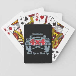 Mud Up or Shut Up 4x4 Off Road Playing Cards
