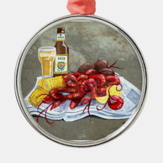 Mudbugs and Beer Ornament