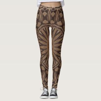 Mudcloth Yoga Pants Gym Exercise Stretch Leggings