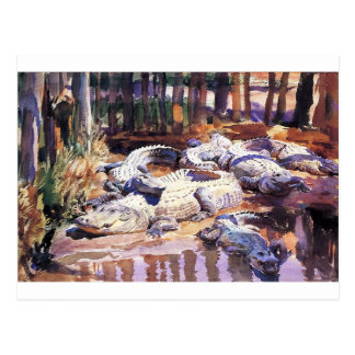 Muddy Alligators by John Singer Sargent Postcard