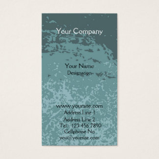 Muddy blue business card