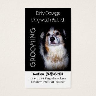 Muddy Dog Groomer or  Dog Wash Business Card