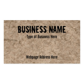 Muddy Ground Image Custom Business Cards