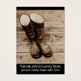 Muddy Gumboots for Farmers Country Store Business Card