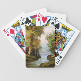 Muddy Pond Creek Trees Nature Playing Cards