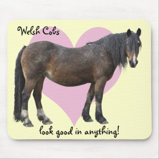 Muddy Welsh cob mousemat Mouse Pad