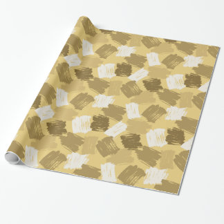 Muddy Yellow Dabs Pattern Wrapping Paper