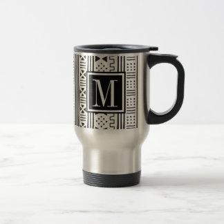 Mudprint Inspired Monogram Travel Mug