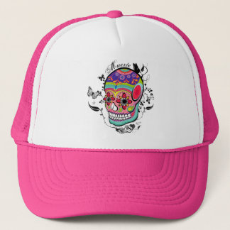 Muerte Day of the Dead Skull Hat! Trucker Hat