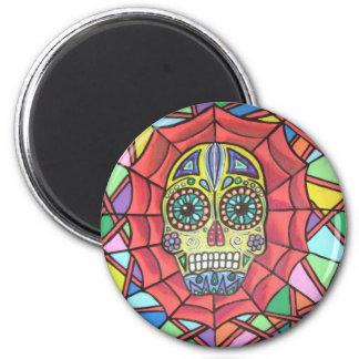 Muertos Sugar Skull Web Magnet