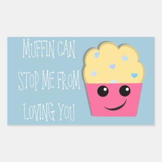 Muffin Can Stop Me Valentine Sticker