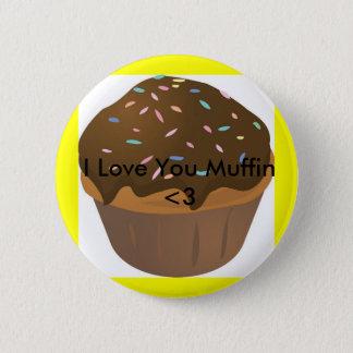 muffin_cartoon, I Love You Muffin <3 2 Inch Round Button