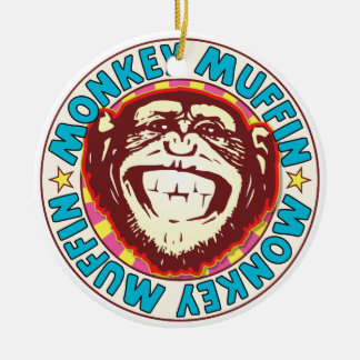 Muffin Monkey Ceramic Ornament