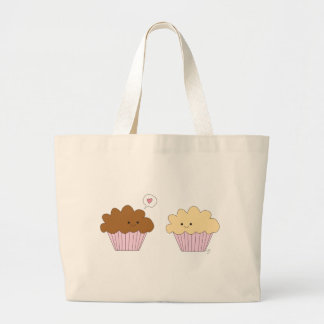 Muffins In Love Large Tote Bag