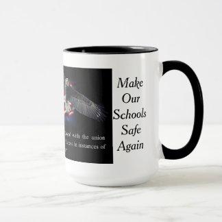Mug, 15oz Two Tone MOSSA Flag/Eagle Mug