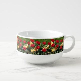 Mug À Soupe Tulipes rouges et jaunes