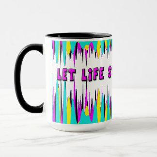 MUG, ABSTRACT DESIGN - LET LIFE SURPRISE YOU! MUG