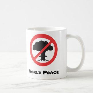 Mug: anti nuclear weapons symbol coffee mug