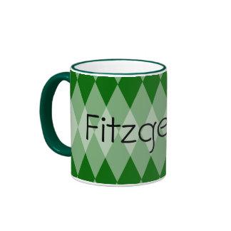 Mug - Argyle pattern with Name