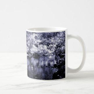 Mug - Autumn Stream - Blue Halftone