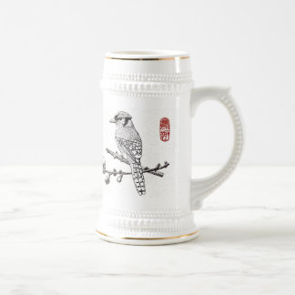 Mug_Bird_Blue Jay Beer Stein