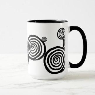 Mug - Black & White Spirals #2