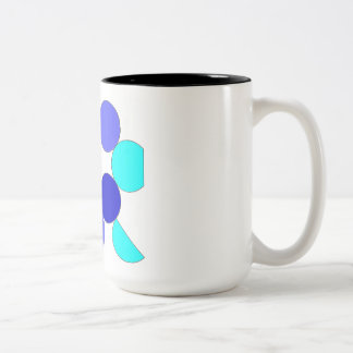 Mug blue geometrical reason