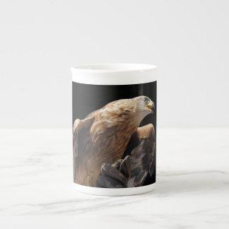 Mug, bone china, white, custom, eagle tea cup