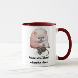 Mug / Cat / with Mouse / fava beans