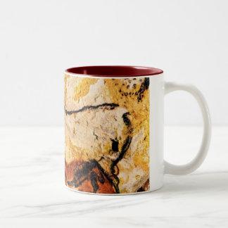 mug, cave, lascaux Two-Tone coffee mug