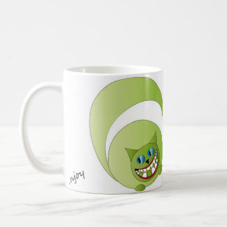 Mug Cheshire cat, enjoy