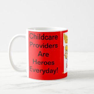 Mug. Childcare Providers Are Heroes Everyday Basic White Mug