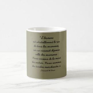 mug citation Léonard de Vinci