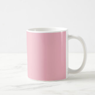 MUG COFFEE FIRST - WHITE ON ROSE