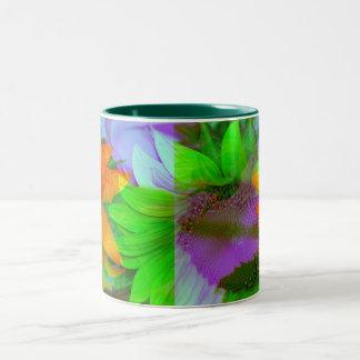 Mug Coffee Mug multi-colored sunflowers