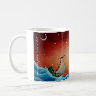 Mug, coffee, sailing, wave, bird coffee mug