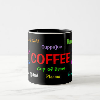 Mug:  Coffee Slang Two-Tone Coffee Mug