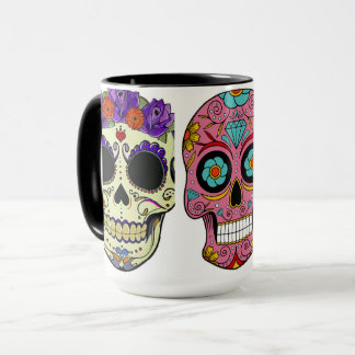 mug colored Mexican skulls