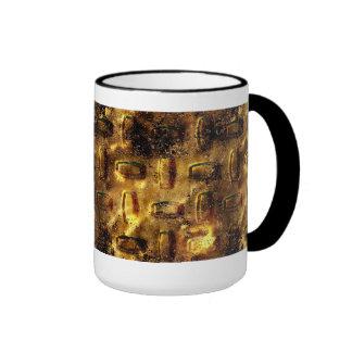 Mug Cup Black Gold Metal 1 Coffee Mugs
