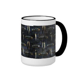 Mug Cup Black Gold Metal 2 Coffee Mugs