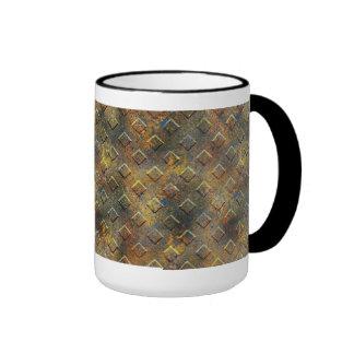 Mug Cup Black Gold Metal 3 Mugs