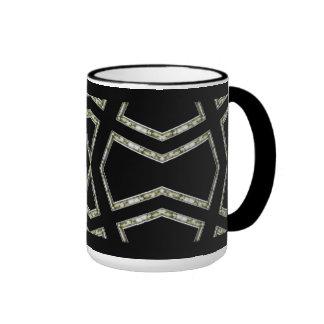 Mug Cup Black Silver Art Deco 2 Coffee Mug
