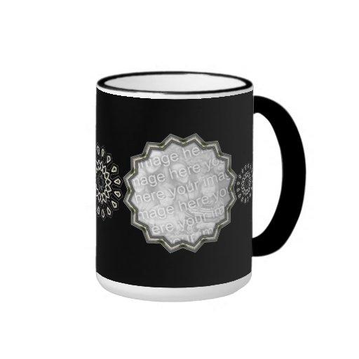 Mug Cup Black Silver Art Deco 3 Add Photos Mug