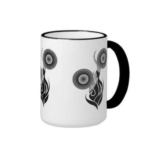 Mug Cup Black White Flowers 9 Coffee Mug