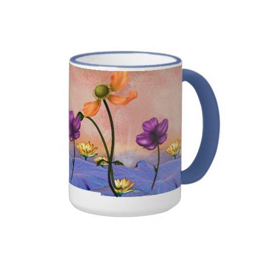 Mug Cup Blue Garden Floral Mug