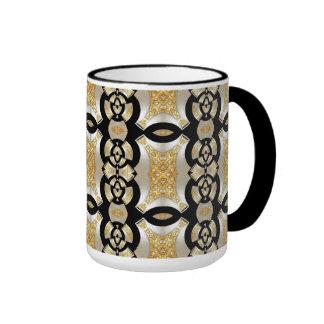 Mug Cup Gold Black Pearl 2 Mugs