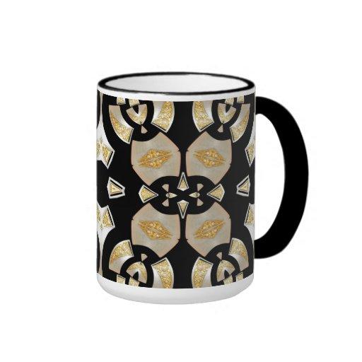 Mug Cup Gold Black Pearl 3 Coffee Mugs