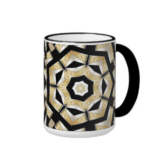 Mug Cup Gold Black Pearl 6 Mugs