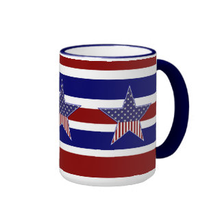 Mug Cup Patriotic USA Flag Stars Coffee Mugs